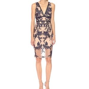 Bardot. flora embroidered lace dress.